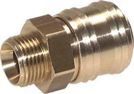 Messing Kupplungsdose NW 12 Kupplung Druckluftkupplung Außengewinde