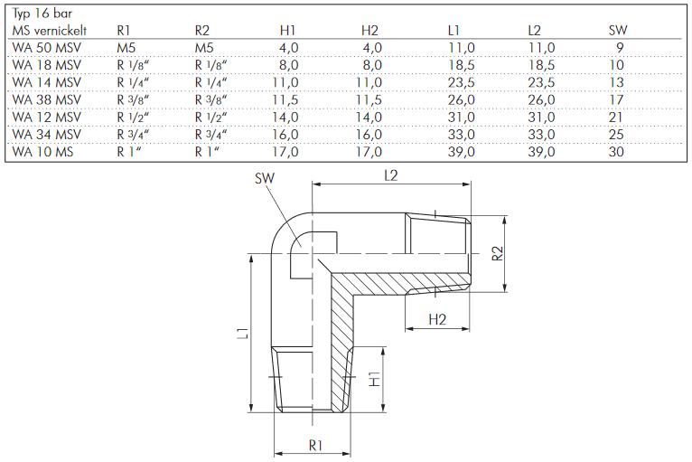 Druckluft T-Stück aussen // innen // aussen PN 16 Luft Verbinder Messing vern