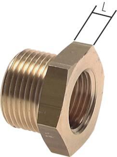 PN 16 Gewindeverlängerung mit zylindrischem Außen Messing und Innengewinde