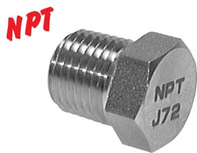 Stopfen Kappe Schraube bis 345 bar Verschlussschraube mit NPT-Gewinde