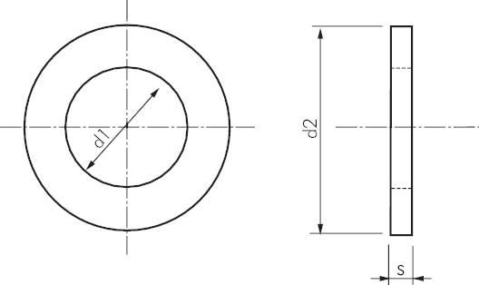 unterlegscheiben ohne fase ausf hrung mittel din 125 a. Black Bedroom Furniture Sets. Home Design Ideas