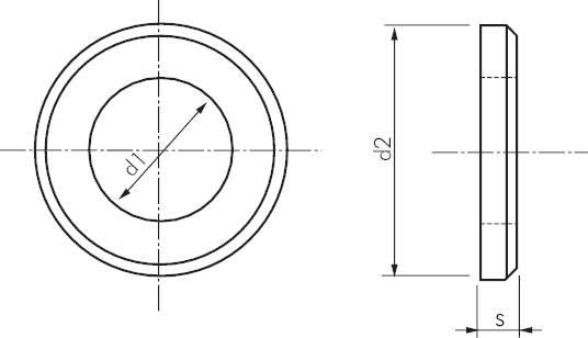 unterlegscheiben mit fase ausf hrung mittel din 125 b. Black Bedroom Furniture Sets. Home Design Ideas
