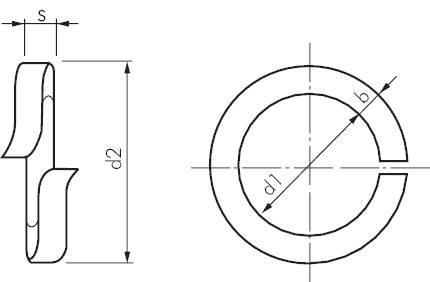 federring din 127a aufgebogen stahl verzinkt schrauben muttern gegenschrauben maschinenbau. Black Bedroom Furniture Sets. Home Design Ideas