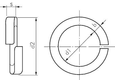 federring din 127b glatt edelstahl a2 schrauben muttern gegenschrauben maschinenbau alle. Black Bedroom Furniture Sets. Home Design Ideas