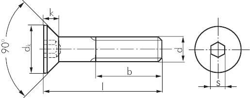 senkschrauben mit innensechskant din 7991 iso 10642 stahl verzinkt 8 8 schrauben muttern. Black Bedroom Furniture Sets. Home Design Ideas