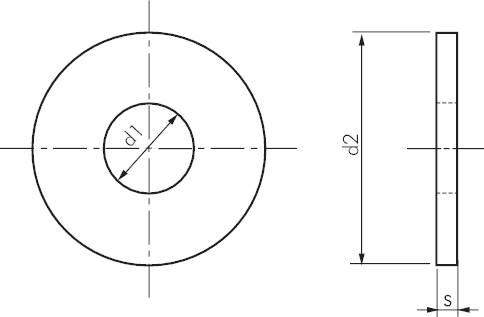 unterlegscheiben gro din 9021 100hv iso 7093 stahl verzinkt schrauben muttern. Black Bedroom Furniture Sets. Home Design Ideas