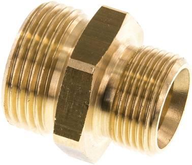 Verbinder Nippel Verschraubung Doppelnippel mit konischem Gewinde PN16 MS vern