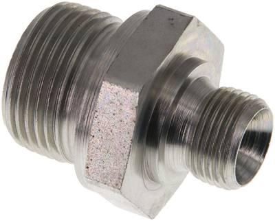 60° Universaldichtkegel Doppelnippel mit Zollgewinde 400 bar Nippel verz. b